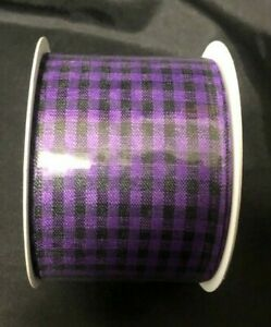 YOUR CHOOSE Single Roll  Ribbon 2.5 in  x 9 FT  HALLOWEEN 8 DESIGNS WIRED EDGE