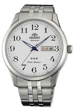 Orient Classic 3 Star Automatic Men's Watch 43mm Tag Date FAB0B002W9 Steel Band