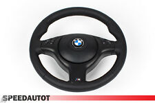 LEDER glates Lederlenkrad BMW E46 M3 M Lenkrad mit Blende Multif SCHWARZ  AIRBAG