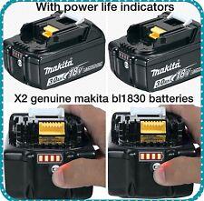 Makita BL1830 Original Li-Ion Batería Star 18V (3.0Ah) X 2-Paquete