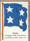 DRAPEAU Chile Chili Director-General of the Navy Directeur Marine FLAG CARD 30s