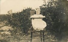 Baby Ruth Skalitzky In A Highchair~Real Photo Postcard