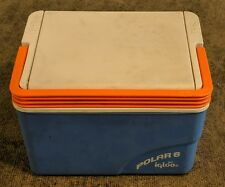 Vintage Blue & White IGLOO Polar 6 Portable Cooler! Personal Size!