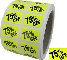 75% OFF Labels Sales Discount Price Stickers Store Use Day-Glo Yellow Music NEW