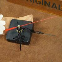 4X Wall Clock Quartz Movement Mechanism Repair Set Hands Black DIY Part Kit F4Q7