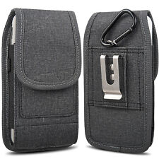 Vertical Cell Phone Pouch Case Belt Clip Cover For Apple iPhone iPhone 12/12 Pro