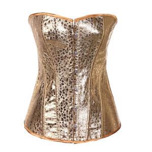 Overbust Corset Showgirl Clubwear Burlesque zipper Costume Lace up Corsets Top
