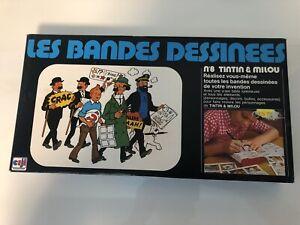 """Rare Jeu Tintin CEJI """"les bandes dessinées"""" n°8 Tintin et Milou Hergé 10fr588"""