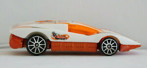 Hot Wheels Silver Bullet 1974 White & Orange Racing Car #2