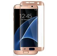 Samsung Galaxy S7Edge Rose Gold 4D Clear HD Tempered Glass Screen Protector