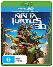 Teenage Mutant Ninja Turtles 3D : NEW Blu-Ray 3-D