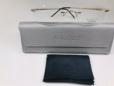New Marchon Airlock Gold ELEMENT 205 711 Eyeglasses 51mm with Case & Cloth