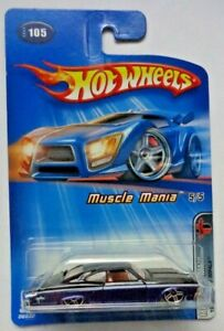 2005 Hot Wheels ~MUSCLE MANIA~ 1965 Chevy Impala 5/5 (Black/Blue Version)