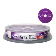 10 Paquete Bd-r Dl 50 Gb 6X Blu-ray Disco De Doble Capa Grabable En Blanco Log