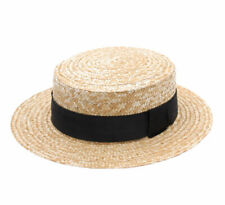 Classic Italy  Men's Canotier Boater Hat Gondolier Straw
