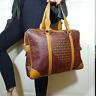 original ESCADA Laptop Tasche Handtasche Paisley Print Leder Bag Handbag vintage