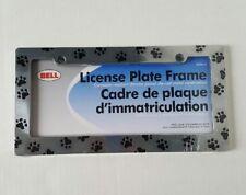 Paw Print Chrome Die-Cast License Plate Frame Fits Standard Auto License Plates