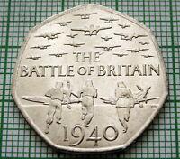 GREAT BRITAIN 2015 50 PENCE BATTLE OF BRITAIN, UNC