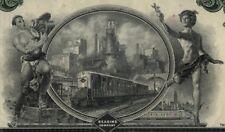 Reading Company 5 Color Stock Certificate Set Railroad