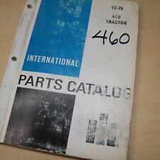 Ih International 460 Tractor Parts Manual Book Spare Catalog Farm List 1968 Oem