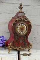 French antique boulle Devil head mantel clock