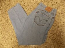 LEVIS 505 MENS BLUE JEANS 36 X 32 REGULAR FIT -FREE SHIPPING