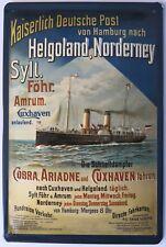 Imperial deutsche post, Helgoland Norderney Sylt escudo de chapa