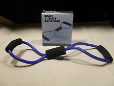 Back & Chest Expander ~ Resistance Band ~   New in Box ~ Blue