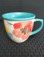 The Pioneer Woman Flea Market Vintage Bloom Turquoise 16 oz Coffee Cup New