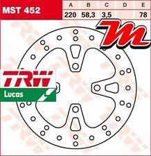 Disque de frein Avant TRW Lucas MST 452 pour Honda NSC 110 C Vision JF31 2011-
