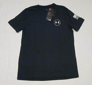 Under Armour Boys  US Freedom Logo T-Shirt Black 1363454-001 Size XLarge