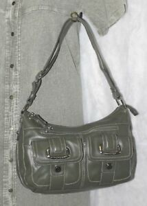 Liz Claiborne Handbag Purse Crossbody Bag Convertible Hobo + Umbrella QVC Green