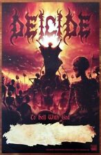 Deicide To Hell With God Ltd Ed Discontinued Rare Poster +Free Metal/Rock Poster