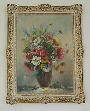 Ölgemälde - Blumenstrauß Stillleben Öl/Leinwand Barockrahmen 65 x 87 signiert