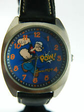 POPEYE 75 ANNIVERSARY  WATCH WITH STAINLESS STEEL CASE AND LEATHER BAND