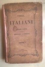 STORIA DEGLI ITALIANI DI CESARE CANTU' VOLUME I 1858