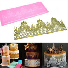 Crown Silicone Fondant Lace Mould Embosser Mat Cake Mold Sugarcraft Decor Tool