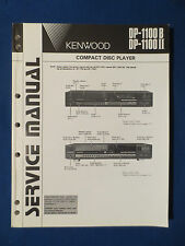 KENWOOD DP-1100B DP-1100II CD SERVICE MANUAL ORIGINAL FACTORY ISSUE 203 PAGES