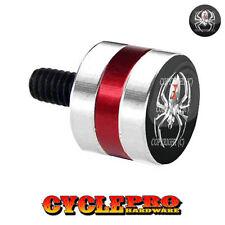 Silver & Red Billet Fender Seat Bolt 96-Up Harley Silver Spider - 024
