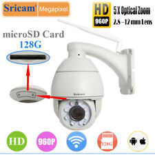 Sricam 960P Full HD 5x Zoom PTZ IR-CUT WiFi Wireless Dome IP Camera Outdoor TF