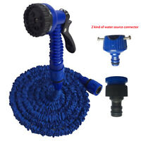 Latex 25 50 75 100 FT Expanding Flexible Garden Water Hose with Spray Nozzle Box