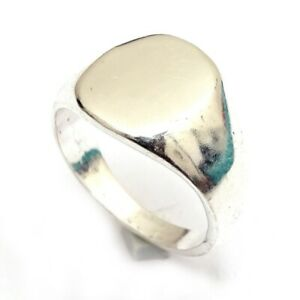 Plain Band Men Ring Designer Silver Plated Ring Jewelry Size 8.5 k920