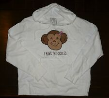 NWT NEW Aeropostale 1987 I have The Giggles Monkey Fleece Hoodie - New Old Stock