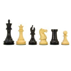 Sandringham Series Ebony Staunton Chess Pieces 4 Inches