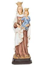 Statue Sainte Vierge Marie du mont Carmel résine colorée 20 CM cadeau communion