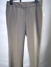 Jones New York Suit Mushroom Brown Pinstripe Dress Pants Womens Size 4 Small