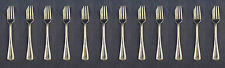 SET OF TWELVE - Oneida Silverplate PATRICIAN 1975 Pastry Forks CUBE