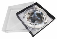 Schnauzer Dog 'Love You Dad' Glass Paperweight in Gift Box Christmas , DAD-183PW