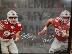 Nick & Joey Bosa Signed Autographed 16x20 Ohio State Photo COA