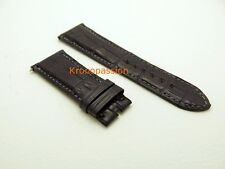 Harry Winston Charcoal Gray Alligator Strap 23mm by 18mm Short Size Oem New !